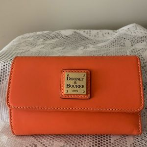 Lovely Dooney and Bourke Coral Front Flap Wallet